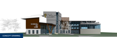 Trinity Western University's proposed law school building.