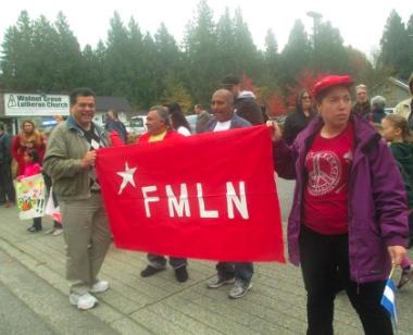 Supporters of Jose Figueroa outside Walnut Grove Lutheran Church in 2013.