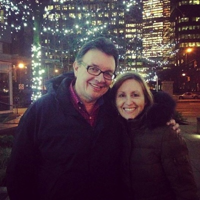 Carson and Brenda Pue, downtown.