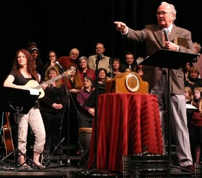 Pastor Ed Goerzen spoke at an earlier Church of Surrey Good Friday service.