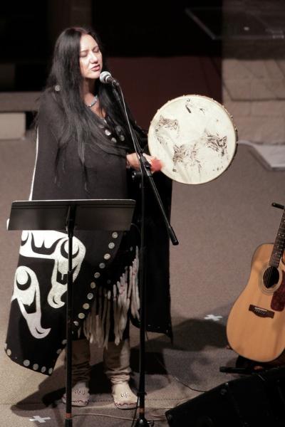 Cheryl Bear led worship at Journey Together, Heal Together.