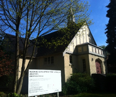 Kerrisdale Church is one of Heritage Vancouver's Top Ten Endangered Sites.