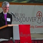 Anglican Bishop Melissa Skelton addressing the Metro Vancouver Alliance.