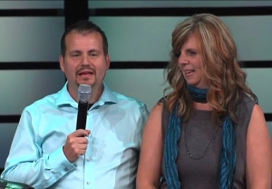 Christian Life Assembly's new senior pastor, Derrick Hamre, with his wife *****.