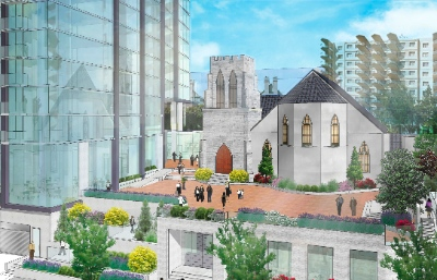 Holy Trinity Cathedral in New Westminster has plans for a 22-storey tower.