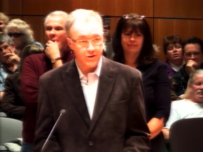 Darcy Siggelkow and two other pastors spoke in front of Nanaimo City Council June 16.