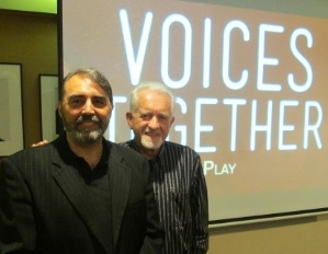 Giulio Gabeli (left) and Dave Carson shortly before Voices Together 2013.