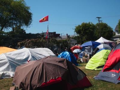 Oppenheimer Park tent city