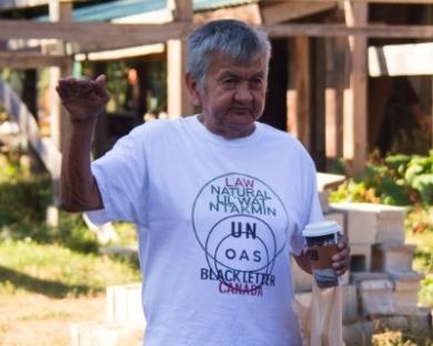 Pau Tuc la Cim (James) Louie of the Lil'wat Nation. Photo: Ray Liu, raycatcher.ca.