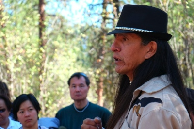 Bill Paul describes how the Lytton First Nation helped Chinese miners. Photo: Jackie Reiners.