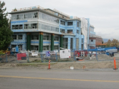The new John Paul II Pastoral Centre, located on 33rd Avenue and Willow Street, will be completed later this year.