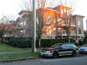 Formerly: Kitsilano United Church; now: apartment block.
