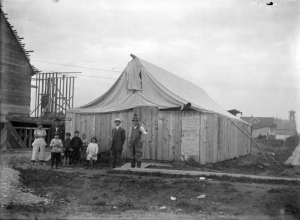 Ruth Morton Baptist Church, at its current location, in 1913. City of Vancouver Archives (CVA 660-682)