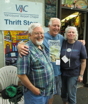 Layne Daggett, left, runs the VAC Thrift Store, along with Doug and Linda Hewitt.