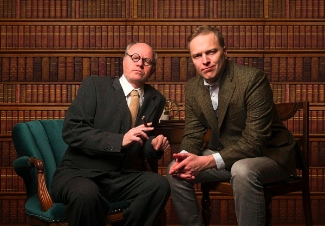 Ron Reed and Evan Frayne play Sigmund Freud and C.S. Lewis. Photo by Emily Cooper.