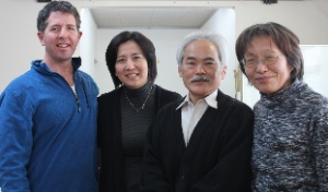 Ken, Shihoko, Rev. Sumiyoshi and his wife at Nakoso Christ Church