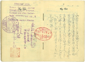 Chiune Sugihara issues some 4,500 travel visas. Image supplied  to exhibition by Bluman family.