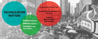 Two ecumenical services and a street fair will celebrate the work of the TRC this weekend.