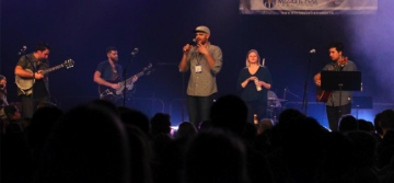 Jonathan Mitchell with the Chapel Band; there will be a strong emphasis on youth this year.