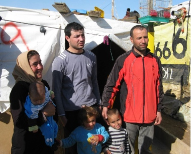One of these 2400 families that Heart for Lebanon cares for in one of the refugee tent settlements in the Bekaa Valley