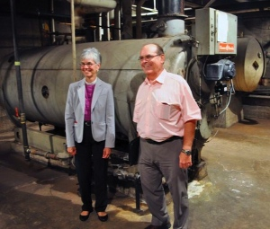 Bishop and Rob beside the Boilers1