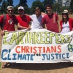 Earthkeepers: Christians for Climate Justice joined a 350.org event last weekend; Jason Wood is second from the right.