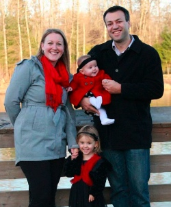 Brendan Weidner with his wife Jaclyn, and daughters Laurel & Everleigh.