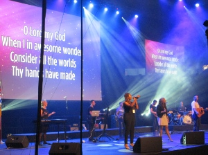 Worship Central led several songs, including How Great Thou Art.