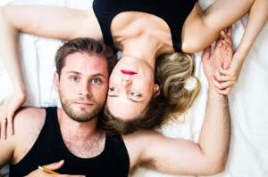 Mack Gordon and Kaitlin Williams star in Shake the Sheets! at the Vancouver Fringe Festival.