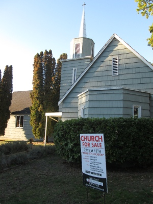 Westpoint Christian Fellowship moved to Richmond and is selling its building, which is in a prominent location just west of Macdonald on 12th Avenue.