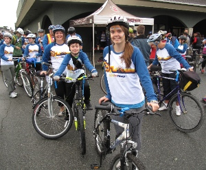 Young bikers at last year's Ride for Refuge. Photo: Len Soet.