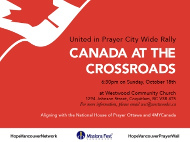 There will be prayer meetings for the election in Richmond on Saturday and Coquitlam on Sunday.