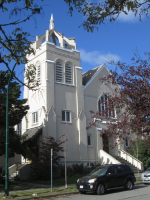 The Oakridge United Church property is slated for redevelopment and Heritage Vancouver doesn't like the prospect of losing the church building.