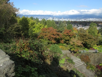 The view over Queen Elizabeth Park.
