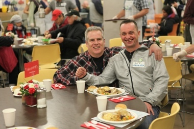 Seven Christmases ago, Jeff Parsons (right) was on the street. Now, thanks to UGM, he has regained his home and family.