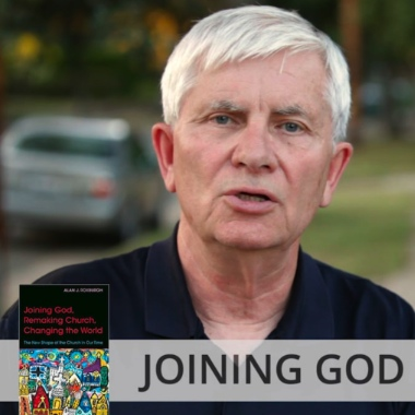 "Alan Roxburgh has written two new books which urge his readers ""to discern what God is up to ahead of us in the communities where we dwell."""