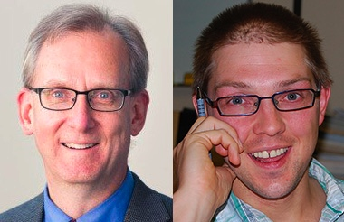 Jeff Greenman (left), *** president of Regent College, and Brett Salkeld, archdiocesan theologian for the Archdiocese of Regina, will lead a conversation on how Evangelicals and Catholics can work together March 1 at Coastal Church.