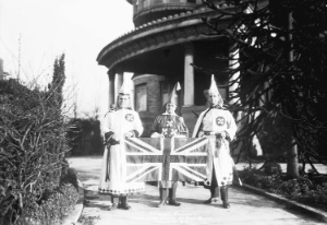 The Ku Klux Klan Imperial Kouncil in front of their Shaughnessy Mansion in 1925. Vancouver Archives: M1535-: CVA 99-1496