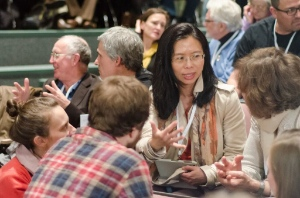 Discussion was lively at 'Churches and the Housing Crisis.' Photo by Ken McAllister.