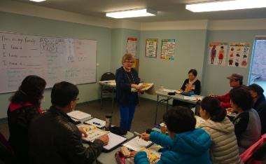 Jo-Ann Matiachuk coordinates  Broadmoor Baptist Church's ESL program.