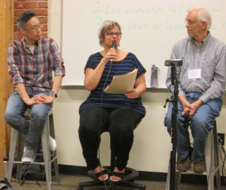 """Karen Reed spoke of a new way of living that is """"slow, rooted, shared and integrated."""""""