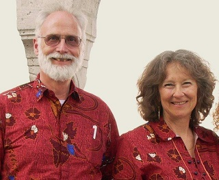 Murray and Carol Moerman  in Batam. They will be spending more time at home from now on.