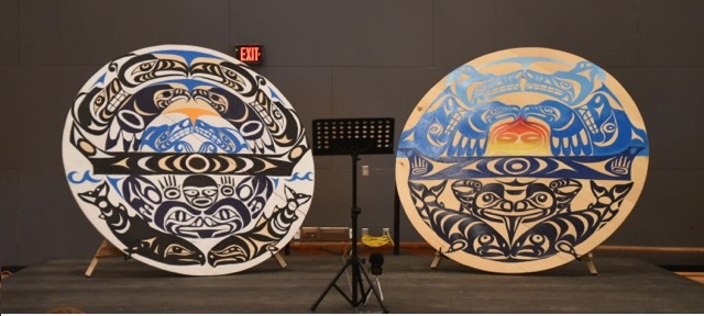 Two art pieces created collaboratively between Brandon Gabriel and the students of Surrey Christian School. Photo by David Dai.between Brandon Gabriel and the students of Surrey Christian School. Photo by David Dai.