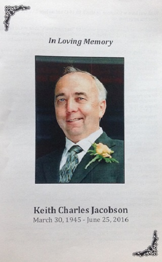 Keith Jacobson was well known as a community activist, especially in Killarney.