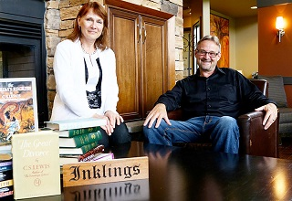 Monika Hilder and Stephen Dunning were key figures in opening the Inklings Institute three years ago.