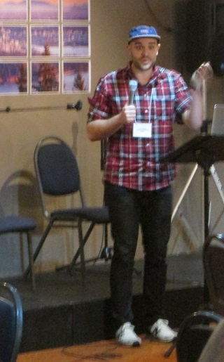 Jonathan Mitchell engaged the assembly with his assessment of youth ministry.