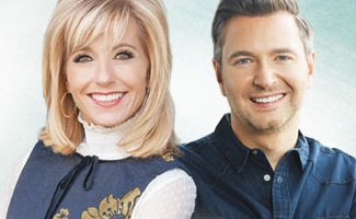 Beth Moore with her worship leader Travis Cottrell.