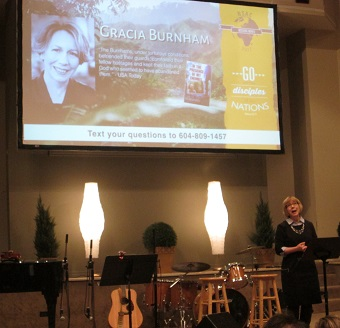 Gracia Burnham at North Shore Alliance Church.