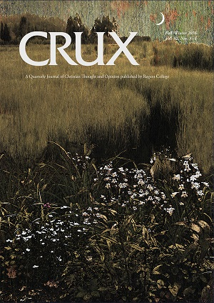 'Dusk 2015' by Iowa-based visual artist Sara Slee Brown is the image on the cover of Crux.