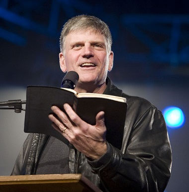 Franklin Graham is scheduled to be in Vancouver March 3 - 5 for the Festival of Hope.